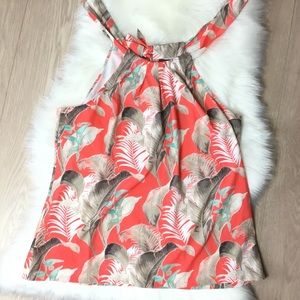 NEW TOMMY BAHAMA Tropical Coral Sleeveless Blouse
